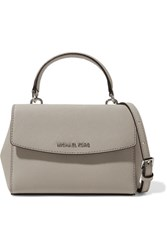 Michael Michael Kors Ava Mini Textured Leather Shoulder Bag Stone