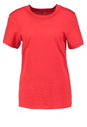 Selected Femme Sfmy Perfect Basic Tshirt Flame Scarlet Red