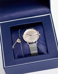 Tommy Hilfiger Mesh Watch And Bracelet Gift Set Gold