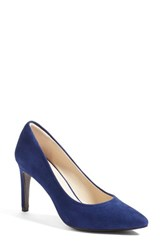 Cole Haan Women's 'Eliza Grand. Os' Pointy Toe Pump Rainstorm Blue Suede
