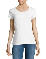 Lord And Taylor Organic Cotton Scoopneck Tee White