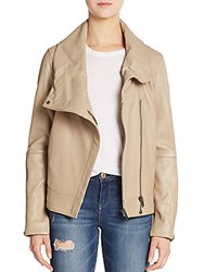 Helmut Lang High Collar Leather Jacket Field