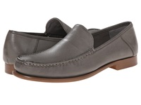 Calvin Klein Danby Pewter Waxy Leather Men's Slip On Dress Shoes Gray