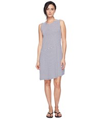 Carve Designs Jones Dress Anchor Caribbean Stripe Women's Dress Gray