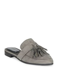 Kenneth Cole Reaction Rain Down Suede Mules Charcoal