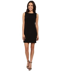 Jessica Simpson Sleeveless Ity Dress With Front Drape Black