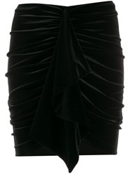 Alexandre Vauthier Draped Velvet Mini Skirt 60