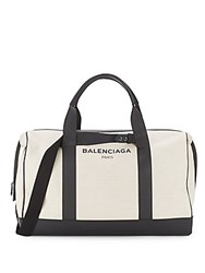 Balenciaga Leather Duffel Bag White