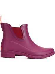 Swims Wellington Ankle Boots Pink And Purple