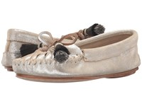 Loeffler Randall Lois Silver Metallic Suede Black Natural Horse Hair Women's Shoes White