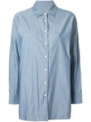 Casey Casey Henrietta Dropped Shoulder Shirt Blue