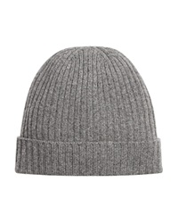 The Men's Store At Bloomingdale's Ribbed Cashmere Cuff Hat Light Grey
