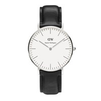 Daniel Wellington Women's Sheffield Silver Watch Black