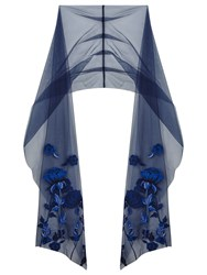 Ariella Couture Kayleigh Embroidered Stole Blue