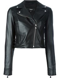 Versus Cropped Biker Jacket Black
