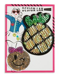 Design Lab Lord And Taylor Pineapple Emoji Patches Multi Colored