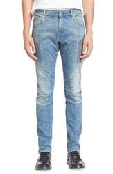 Men's Pierre Balmain Moto Jeans Medium Blue