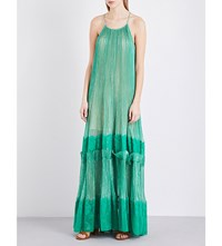 Stella Mccartney Racerback Silk Dress Green