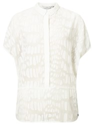 Numph Marlis Textured Shirt Cloud Dancer