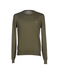 Cotton Belt Knitwear Jumpers Men Military Green