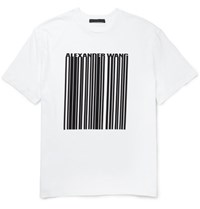 Alexander Wang Printed Cotton Jersey T Shirt White