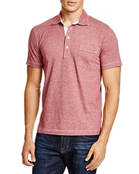 Billy Reid Pensacola Regular Fit Polo Cranberry