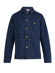 Acne Studios Albyr Cotton Workwear Jacket Blue