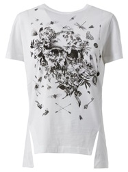 Alexander Mcqueen Insect Skull Print T Shirt White