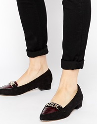 Ravel Flat Point Leather Shoes Blackburgandy