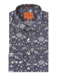 Simon Carter Liberty Fish Print Shirt Blue