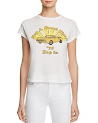 Michelle By Comune For A Good Time Graphic Tee Vintage White