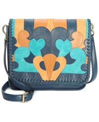 Nanette Lepore Echo Park Crossbody Flap Denim Multi