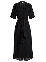 Raey Crepe Shirtdress Black