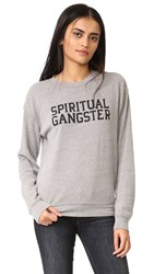 Spiritual Gangster Sg Varsity Old School Pullover Heather Grey
