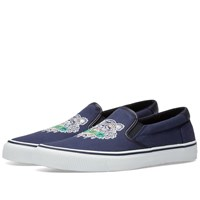 Kenzo Tiger Logo Slip On Blue