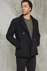 Forever 21 Wool Blend Peacoat Black