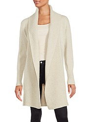 Loro Piana Cashmere Open Front Cardigan Natural
