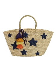 White Stuff Star Straw Tote Bag Multi Coloured Multi Coloured