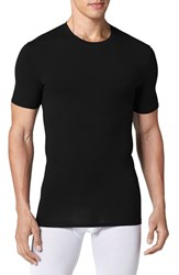 Men's Tommy John 'Cool Cotton' Crewneck Undershirt Black