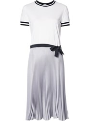 Red Valentino Pleated T Shirt Dress White