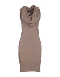 Fracomina Knee Length Dresses Khaki