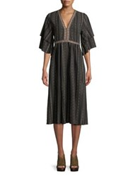 Molly Bracken Bell Sleeve Shift Dress Black