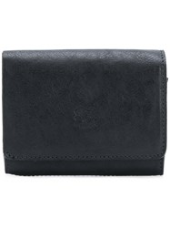 Il Bisonte Embossed Logo Wallet Black