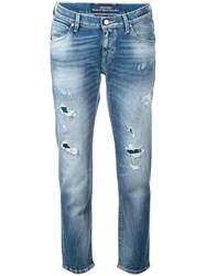 Jacob Cohen Distressed Jeans Blue