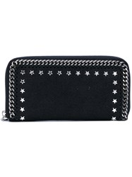 Stella Mccartney Star Studded Falabella Wallet Women Polyester Metal One Size Black