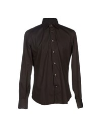 Mazzarelli Shirts Shirts Men Dark Brown