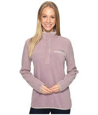 Columbia Mountain Side Pullover Sparrow Flint Grey Women's Long Sleeve Pullover Purple