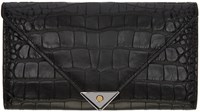 Alexander Wang Black Croc Embossed Prisma Wallet