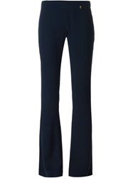 Versace Collection Bootcut Trousers Blue