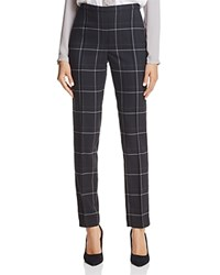 T Tahari Karis Windowpane Plaid Pants Black White